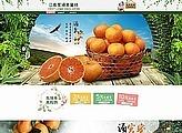 全职美工 清新绿色橙子橘子蜜桔水果农产品首页